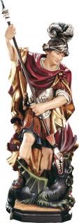Heiliger Georg barock stehend Holzfigur geschnitzt Südtirol Schutzpatron