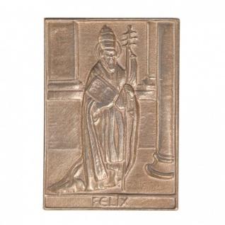Namenstag Felix 8 x 6 cm Bronzeplakette Bronzerelief Wandbild Schutzpatron - Vorschau