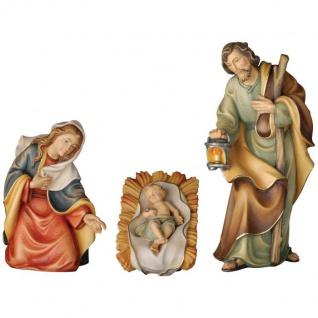 Heilige Familie der Friedenskrippe Holzfigur geschnitzt Südtirol