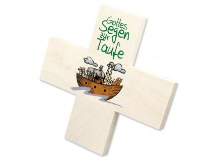 Kinderkreuz Gottes Segen Taufe Arche Noah 12 cm Wandkreuz Holzkreuz