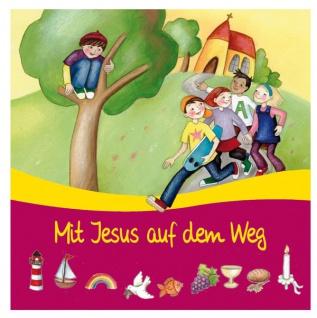 Serviettenset Mit Jesus auf dem Weg 6 x 20 Stck Geschenk zur Kommunion