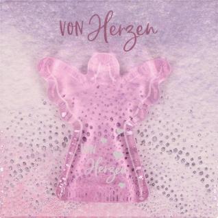 Handschmeichler von herzen Engel rosa Glas 4, 5 cm