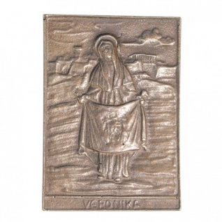Namenstag Veronika 8 x 6 cm Bronzeplakette
