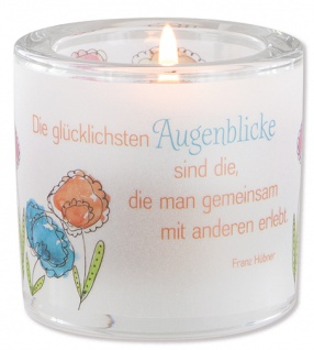 Glaswindlicht Augenblicke Teelicht Kerzenhalter Geschenkbox Glas für Windlicht