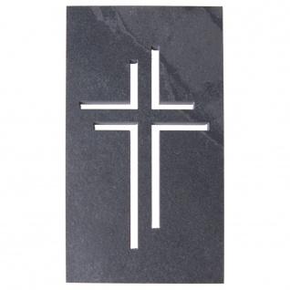 Wandkreuz Schiefer Durchbruchmotiv Kreuz 23 cm Kruzifix Christlich