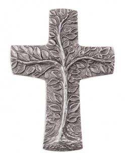 Wandkreuz Lebensbaum Silberbronze 10 cm Schmuckkreuz