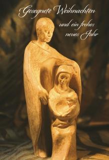 Glückwunschkarte Gesegnete Weihnachten (6 St) Heilige Familie Grußkarte Kuvert