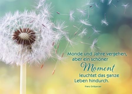 Postkarte Schöner Moment Franz Grillparzer 10 St Adressfeld Erinnerung Leuchten