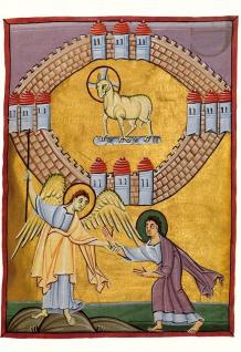 Magnificat Karte Das Himmlische Jerusalem (1 Grußkarte mit Kuvert)