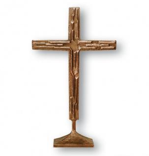 Stehkreuz 60 cm Bronze Künstlerarbeit