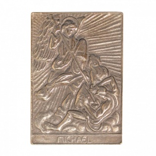Namenstag Michael 8 x 6 cm Bronzeplakette Bronzerelief Wandbild Schutzpatron