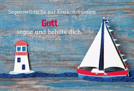 Glückwunschkarte Segenswünsche zur Erstkommunion mit Kuvert 6 Stück