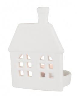 Porzellan-Figur Haus 10 cm, mit Teelicht