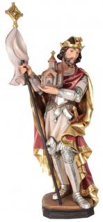 Heiliger Leopold Holzfigur geschnitzt Südtirol Schutzpatron von Österreich