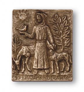 Namenstag Franziskus von Assisi Bronzeplakette 13x10 cm