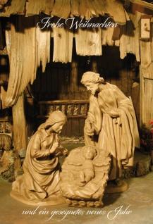 Glückwunschkarte Frohe Weihnachten Heilige Familie (6 Stück) Grußkarte Kuvert