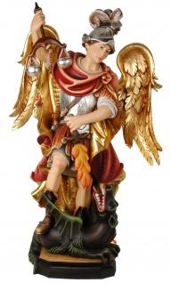Heiliger Michael mit Waage Holzfigur geschnitzt Südtirol Schutzpatron Erzengel