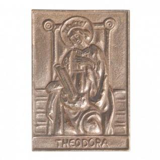 Namenstag Theodora 8 x 6 cm Bronzeplakette Bronzerelief Wandbild Schutzpatron