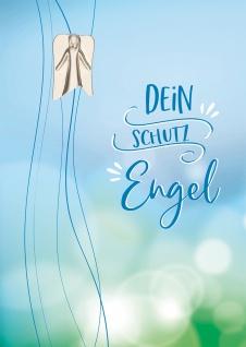 Klappkarte Schutzengel Engelplakette 5 St Naturpapier Kuvert Himmel Lebensweg