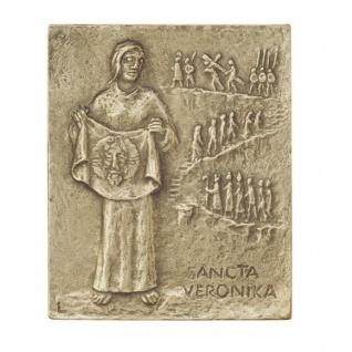 Namenstag Veronika Bronzeplakette 13 x 10 cm Bronzerelief Wandbild Schutzpatron