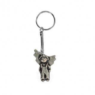 Schlüsselanhänger Lustiger Engel Junge Neusilber 4 cm Schutzengel Anhänger