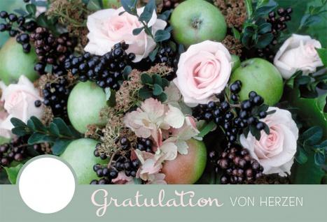 Geburtstagskarte Gratulation von Herzen (6 Stck) Glückwunschkarte Kuvert - Vorschau