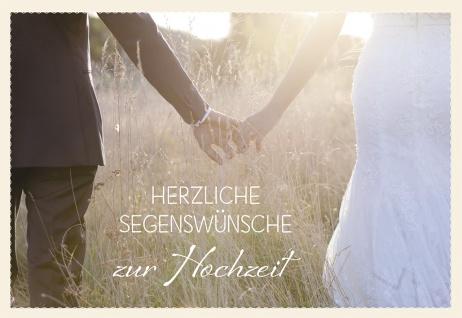 Glückwunschkarte Hochzeit Hände 6 St Kuvert Kolosser Bibelwort Brautpaar Liebe