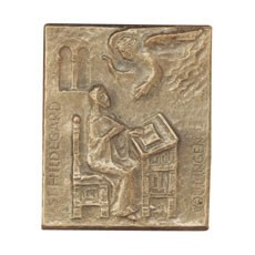 Namenstag Hildegard Bronzeplakette 13x10 cm Bronzerelief Wandbild Schutzpatron
