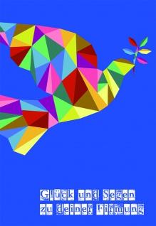 Grußkarte Firmung Glück und Segen zu deiner Firmung (6 Stck) Hübner Kuvert