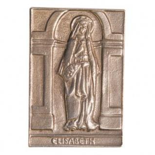 Namenstag Elisabeth 8 x 6 cm Bronzeplakette