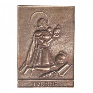 Namenstag Ivonne 8 x 6 cm Bronzeplakette