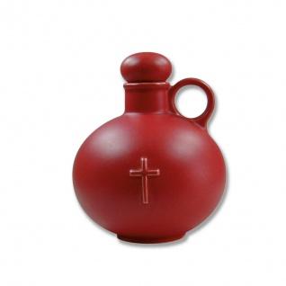 Weihwasserkrug Kreuz Keramik rot matt 0, 5 l Weihwassergefäß Weihwasser