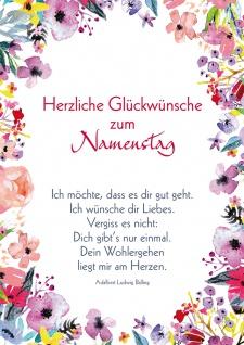 Postkarte Namenstag Blumen 10 Stck Wunsch Individualität Einzigartigkeit