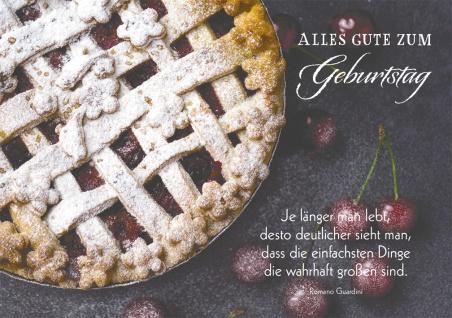 Postkarte Alles Gute zum Geburtstag (10 St) Kirschkuchen Romano Guardini