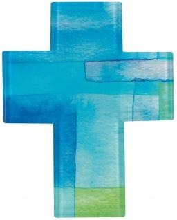 Schmuckkreuz Kruzifix Kreuz Glas 14, 5 cm Geschenkverpackung Aufhängung