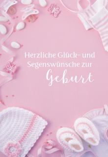 Glückwunschkarte Geburt Baby-Kleidung 6 St Kuvert Bibelwort Name Gott Wünsche