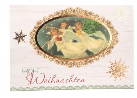 Glückwunschkarte Frohe Weihnachten (6 St) Verkündungsengeln Grußkarte Kuvert
