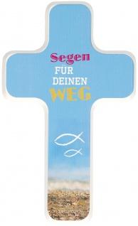 Kreuz für Kinder Segen für deinen Weg 18 cm Geschenkbox Kruzifix Holz-Kreuz