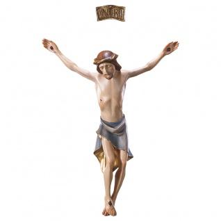 Corpus mit INRI Modern Holzkreuz geschnitzt Südtirol Kruzifix