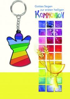 Kommunionkarte mit Lesezeichen Gottes Segen (5 Stck) Erstkommunion Grußkarte