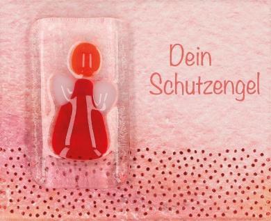 Handschmeichler Dein Schutzengel rot Glas klar