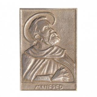Namenstag Manfred 8 x 6 cm Bronzeplakette Bronzerelief Wandbild Schutzpatron