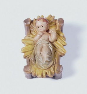 Tiroler Krippe Kind handbemalt bunt 15 cm Krippen Figur Weihnachten - Vorschau