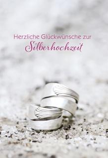 Hochzeitskarte Silberhochzeit Herzliche Glückwünsche (6 St) Grußkarte Kuvert