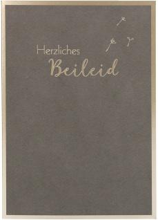 Trauerkarte Beileid Irmgard Erath 6 St Kuvert Naturpapier Prägung Erinnerung