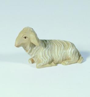 Tiroler Krippe Schaf, liegend bunt bemalt 12 cm Krippen Figur Weihnachten - Vorschau