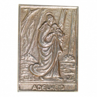 Namenstag Adelheid 8 x 6 cm Bronzeplakette Bronzerelief Wandbild Schutzpatron