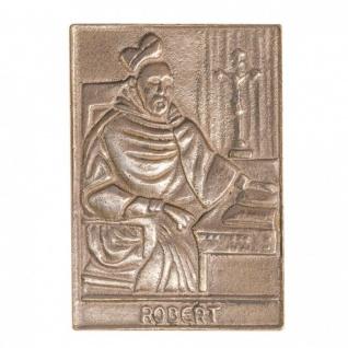 Namenstag Robert 8 x 6 cm Bronzeplakette Bronzerelief Wandbild Schutzpatron