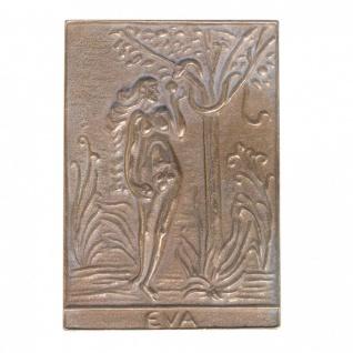Namenstag Eva 8 x 6 cm Bronzeplakette Bronzerelief Wandbild Schutzpatron
