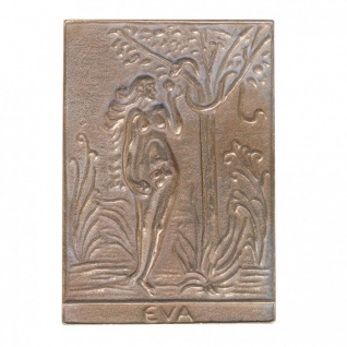 Namenstag Eva 8 x 6 cm Bronzeplakette